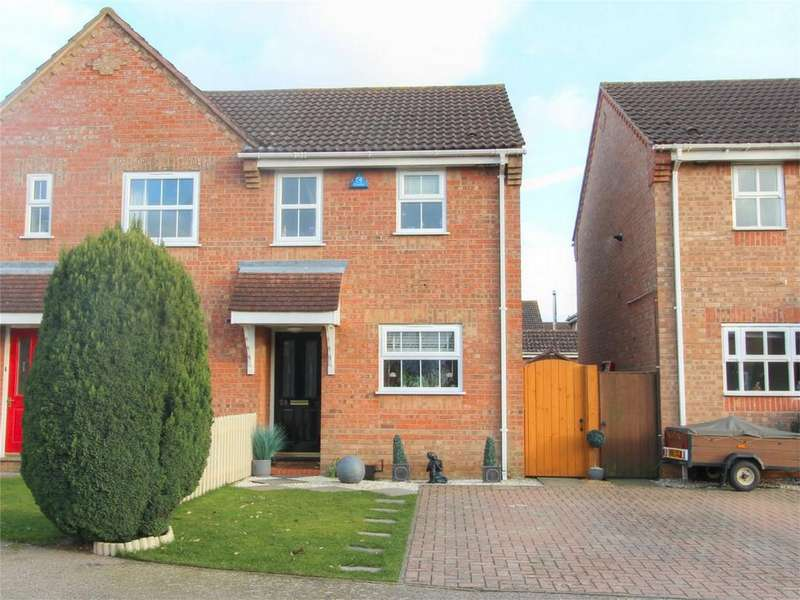 2 Bedrooms Semi Detached House for sale in Sorrel Drive NR17 1QR, ATTLEBOROUGH, Norfolk