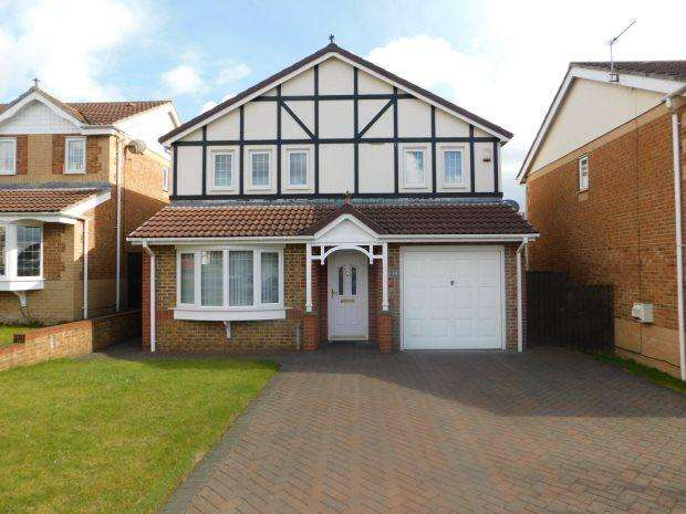 4 Bedrooms Detached House for sale in ASHBOURNE DRIVE, COXHOE, DURHAM CITY : VILLAGES EAST OF