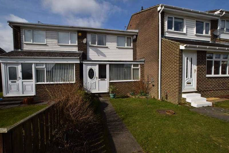 3 Bedrooms Terraced House for sale in Ballater Close, East Stanley, Co. Durham