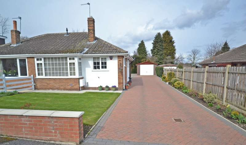 2 Bedrooms Semi Detached Bungalow for sale in Thornhill Croft, Walton, Wakefield
