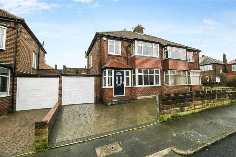 3 Bedrooms Semi Detached House for sale in Millfield Gardens, Tynemouth, Tyne And Wear