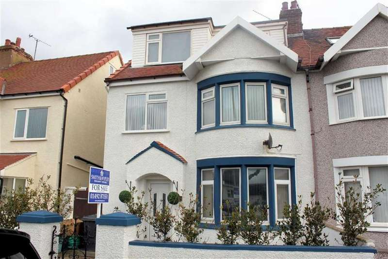 3 Bedrooms Semi Detached House for sale in Bryniau Road, West Shore, Llandudno, Conwy
