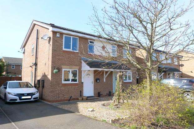 2 Bedrooms Semi Detached House for sale in Manston Close, Barkby Thorpe, Leicester, LE4