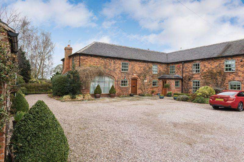 5 Bedrooms Barn Conversion Character Property for sale in Vicarage Lane, Elworth, Nr Sandbach