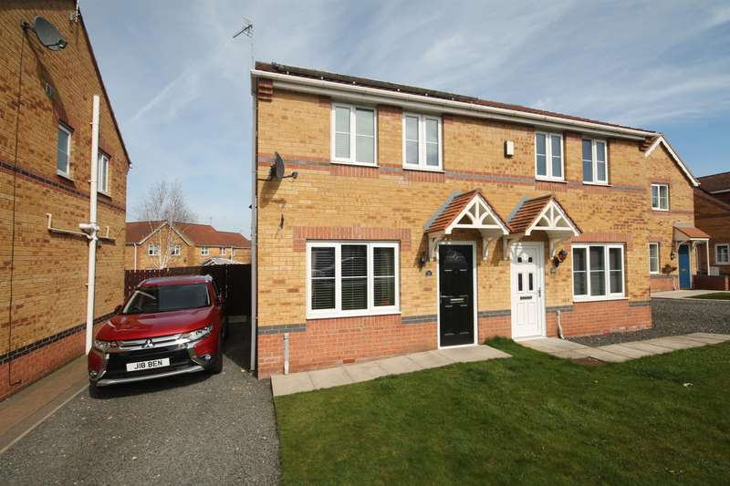3 Bedrooms Semi Detached House for sale in Celandine Way, Shildon