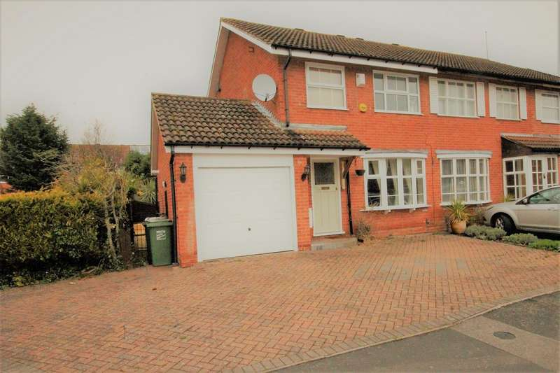3 Bedrooms Semi Detached House for sale in Maisemore Close, Churchill North, Redditch