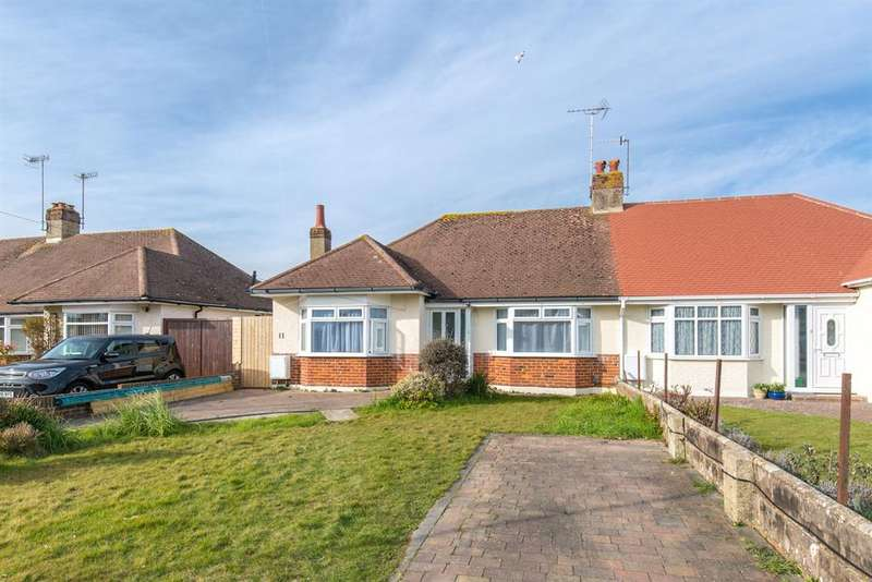 3 Bedrooms Semi Detached Bungalow for sale in Burnham Road , Worthing, West Sussex , BN13 2NL