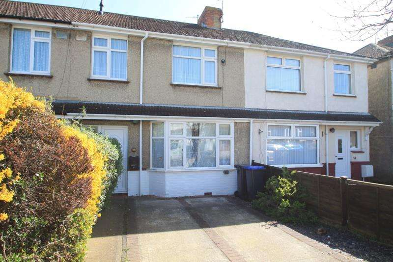 3 Bedrooms Terraced House for sale in Monks Close, Lancing