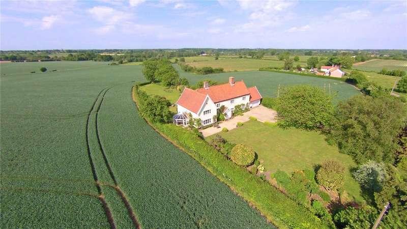 5 Bedrooms Detached House for sale in Middleton Moor, Nr Saxmundham, Suffolk, IP17