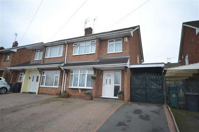 3 Bedrooms Semi Detached House for sale in Clent Drive, Church Farm, Nuneaton
