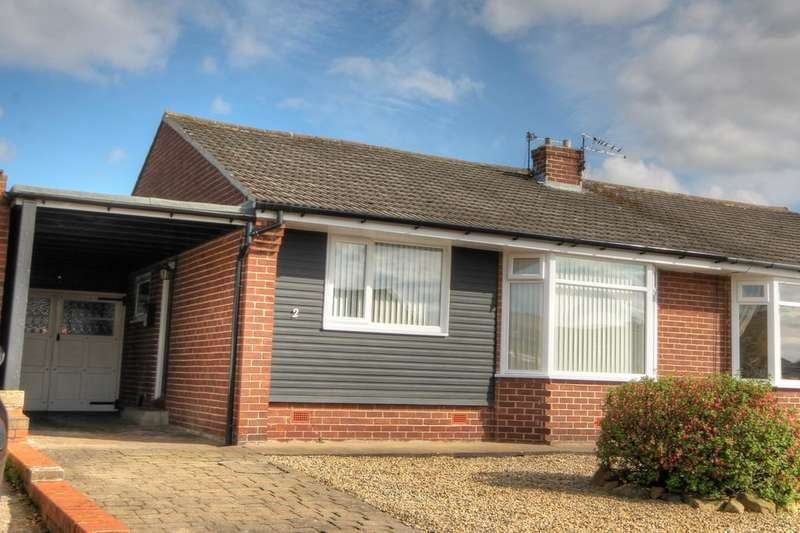 2 Bedrooms Semi Detached Bungalow for sale in Coldside Gardens, Chapel House, Newcastle Upon Tyne, NE5
