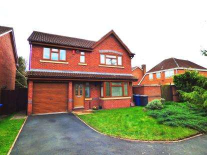4 Bedrooms Detached House for sale in Campion Drive, Kettlebrook, Tamworth, Staffordshire