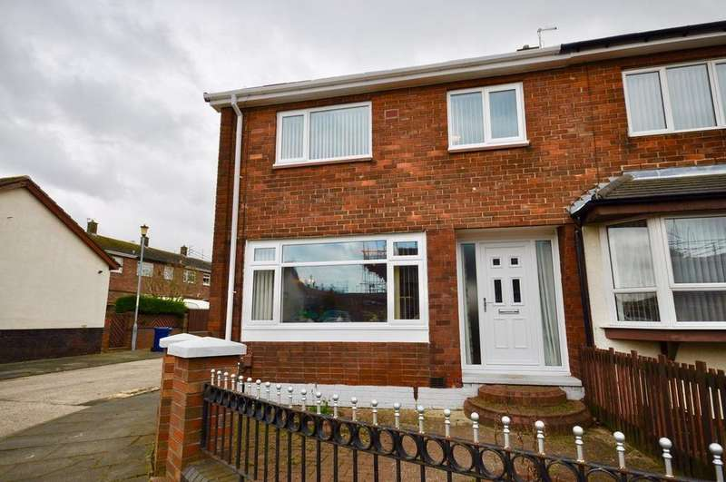 3 Bedrooms Semi Detached House for sale in Bexhill Square, Town End Farm, Sunderland