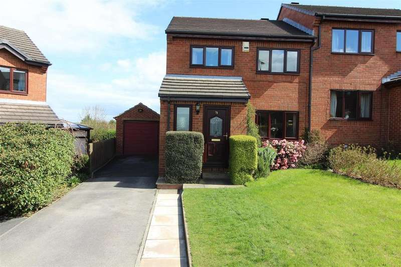 3 Bedrooms Semi Detached House for sale in Ings Mill Drive, Clayton West, Huddersfield, HD8 9PW
