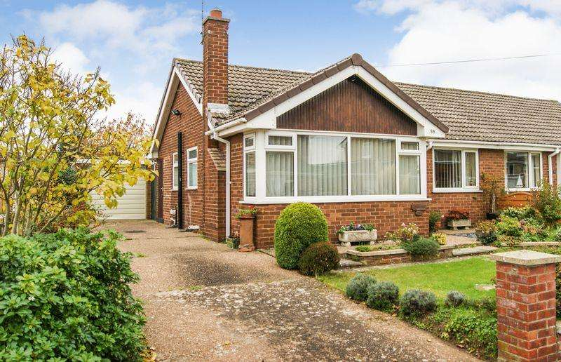 2 Bedrooms Semi Detached Bungalow for sale in Redcliffe Road, Grantham