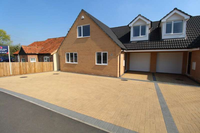 4 Bedrooms Semi Detached Bungalow for sale in Holmsey Green, Beck Row, Bury St. Edmunds