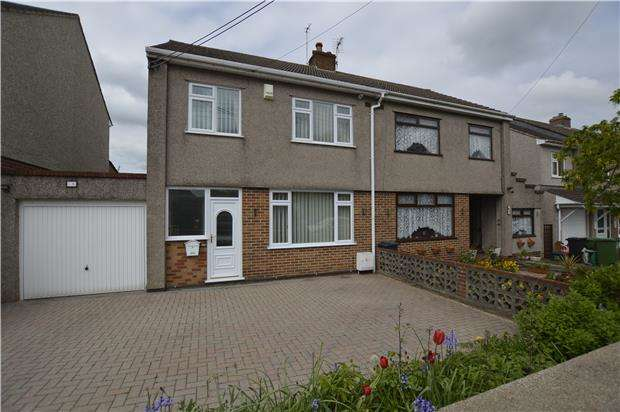 3 Bedrooms Semi Detached House for sale in Station Road, Winterbourne Down, BRISTOL, BS36 1EN
