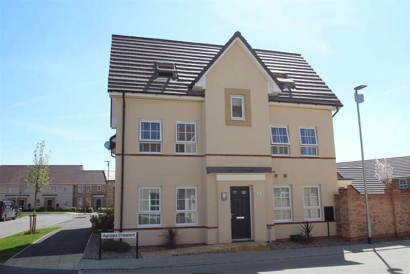 4 Bedrooms Semi Detached House for sale in Agrippa Crescent, Milton Keynes