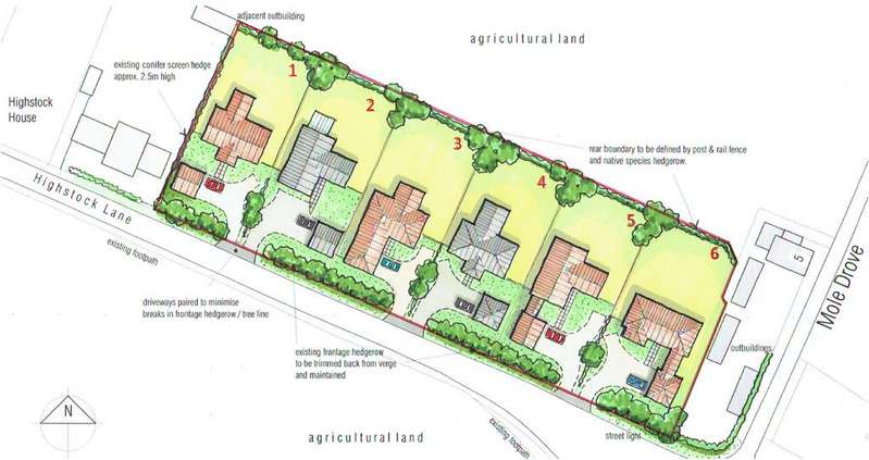 Land Commercial for sale in Plot 3, North of Highstock Lane