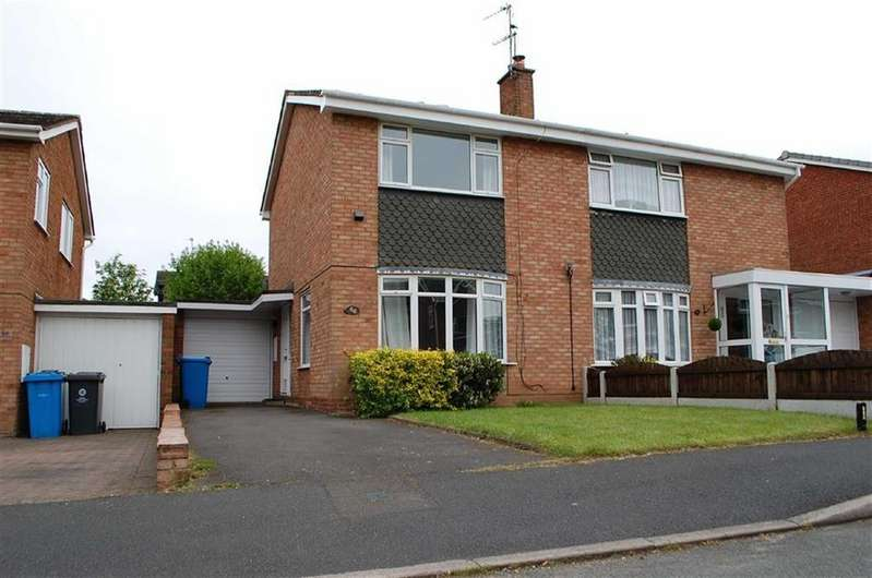 2 Bedrooms Semi Detached House for rent in 66, Ravenhill Drive, Codsall, Wolverhampton, WV8