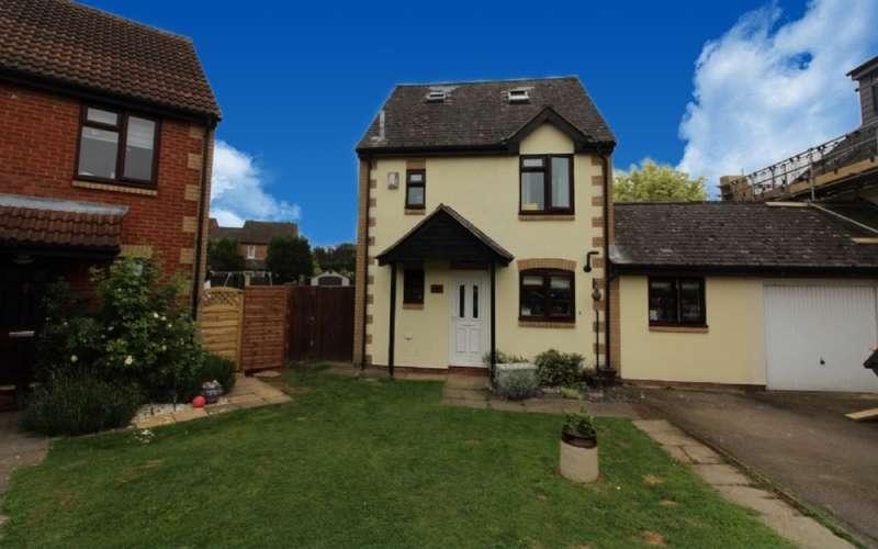 4 Bedrooms Link Detached House for sale in Wellfield Court, Willen , Milton Keynes, Buckinghamshire