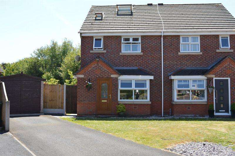 3 Bedrooms Semi Detached House for sale in Stradbroke Close, Lowton, WA3 1AS