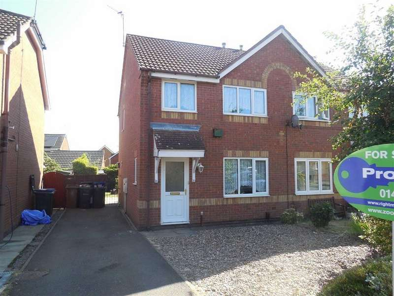 3 Bedrooms Semi Detached House for sale in Turner Drive, Hinckley