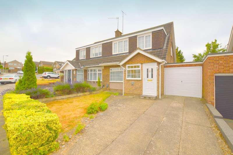 3 Bedrooms Semi Detached House for sale in Turnpike Drive, Warden Hills, Luton, Bedfordshire, LU3 3RA