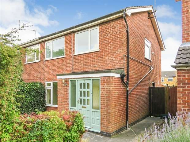 3 Bedrooms Semi Detached House for sale in Gibson Road, Sileby, Loughborough, Leicestershire
