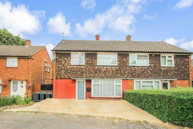 3 Bedrooms Semi Detached House for sale in Ickley Close, Luton