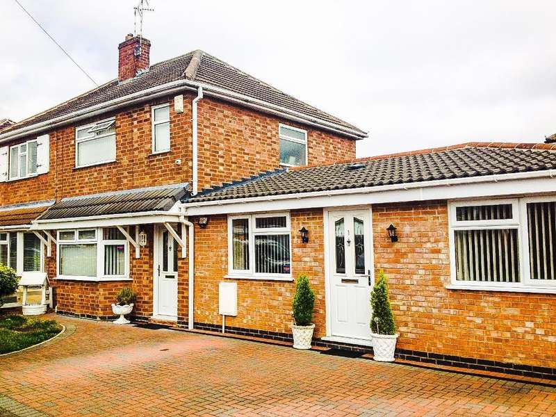 3 Bedrooms Semi Detached House for sale in Lowland Avenue, Leicester Forest East, Leicester, Leicestershire, LE3 3PA