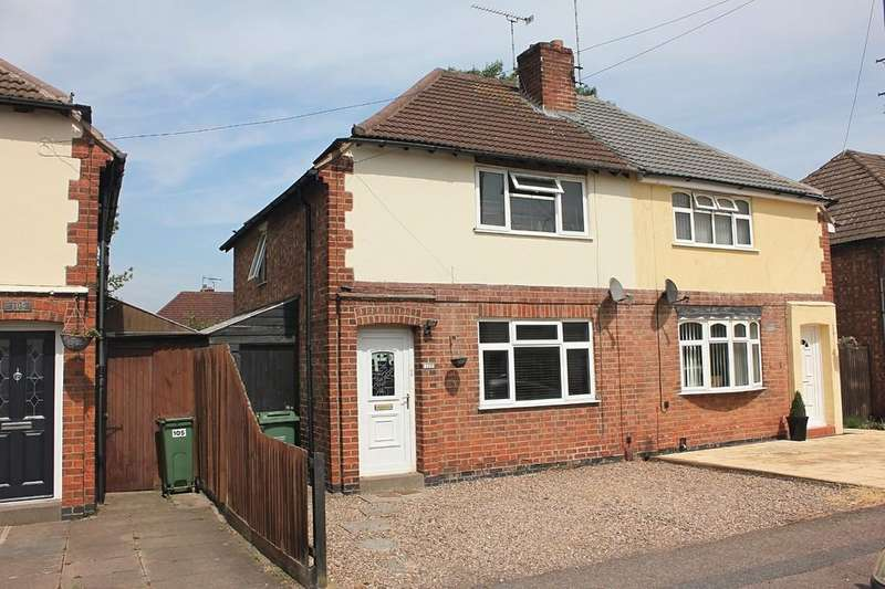 2 Bedrooms Semi Detached House for sale in Burleigh Avenue, Wigston, Leicester