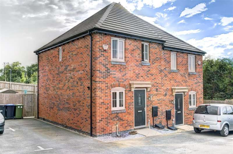 2 Bedrooms Semi Detached House for sale in David Hobbs Rise, Market Harborough