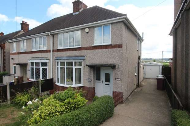 3 Bedrooms Semi Detached House for sale in Stretton Road, Chesterfield, Derbyshire, S45 9AQ