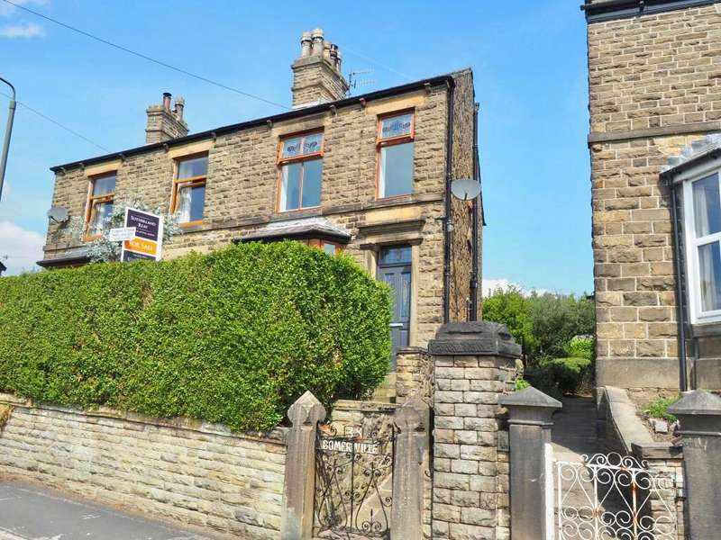 3 Bedrooms Semi Detached House for sale in Hall Street, New Mills, High Peak, Derbyshire, SK22 3BR