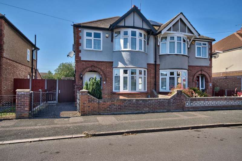 3 Bedrooms Semi Detached House for sale in Harefield Avenue, Bedford, Bedfordshire, MK42 9RL
