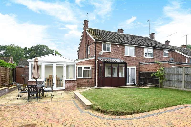 4 Bedrooms Semi Detached House for sale in Keats Way, Crowthorne