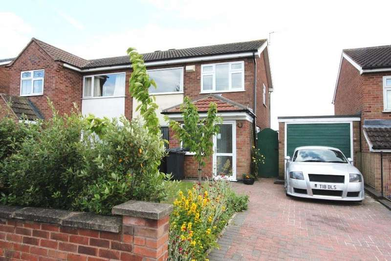 3 Bedrooms Semi Detached House for sale in Outlands Drive, Hinckley