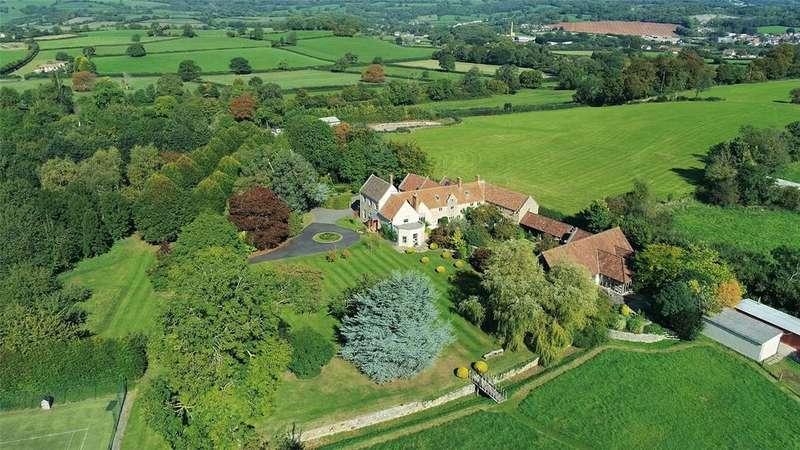 6 Bedrooms Detached House for sale in Pennybatch Lane, Burcott, Wells, Somerset, BA5
