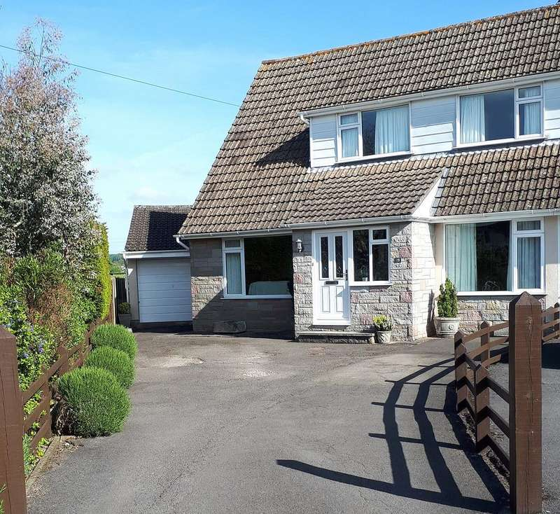 4 Bedrooms Semi Detached House for sale in Quiet location in Wrington overlooking fields to the rear