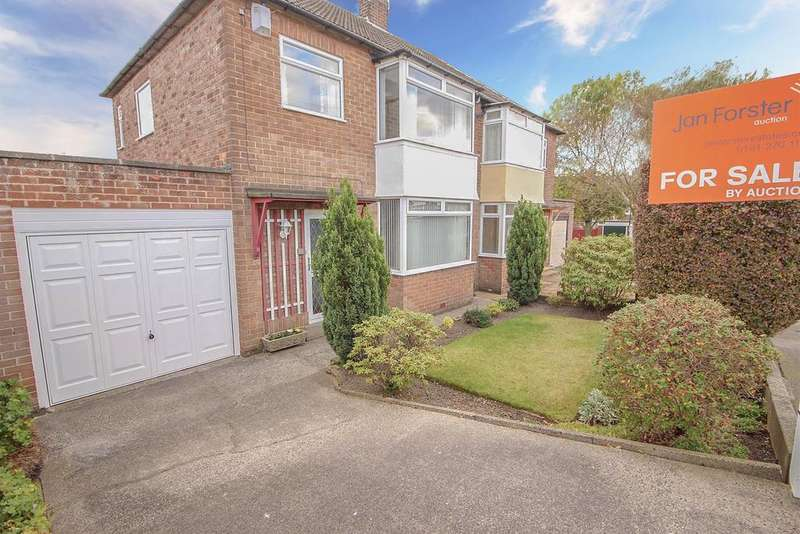 3 Bedrooms Semi Detached House for sale in Northfield Drive, West Moor Newcastle Upon Tyne