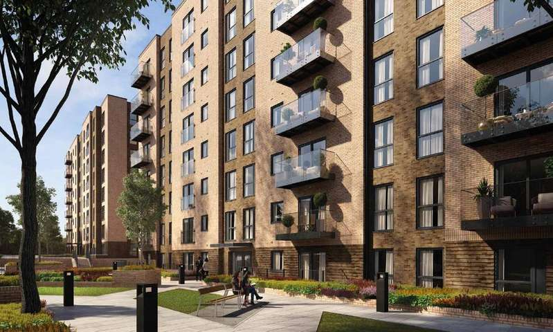 2 Bedrooms Apartment Flat for sale in Saxon Square, Kimpton Road, Luton, Bedfordshire, LU2