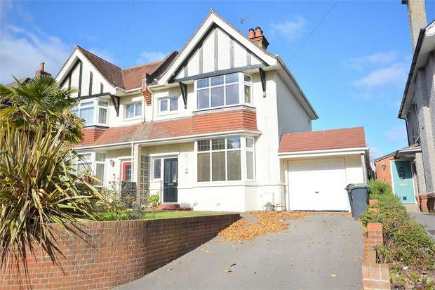 4 Bedrooms Semi Detached House for sale in Talbot Hill Road, Talbot Park, Bournemouth
