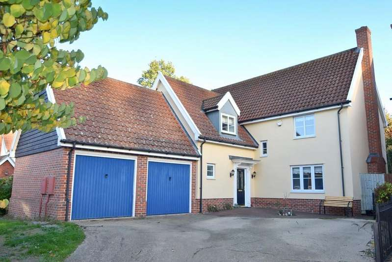 4 Bedrooms Detached House for sale in Woodward Close, Ipswich, IP2 0EA