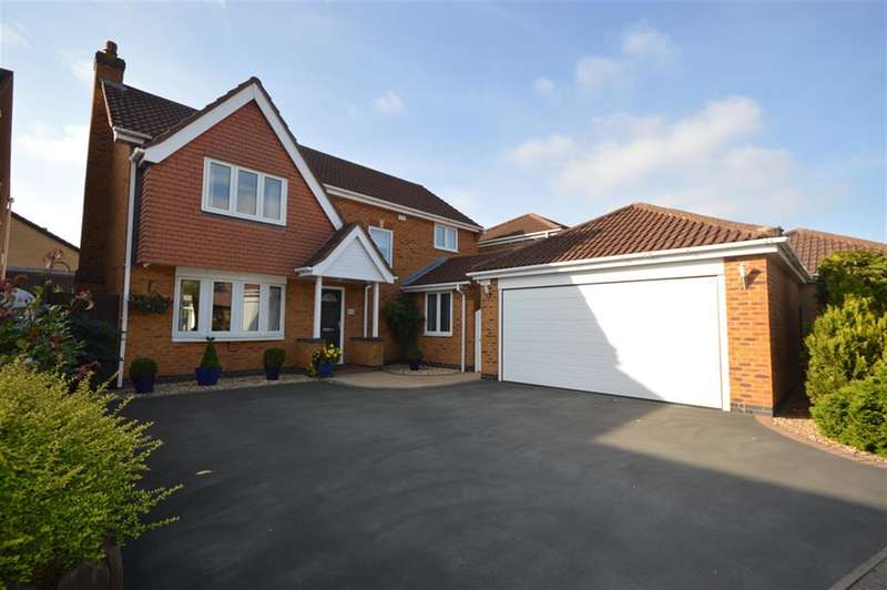 4 Bedrooms Detached House for sale in Elliot Close, Whetstone, Leicester, LE8 6QX