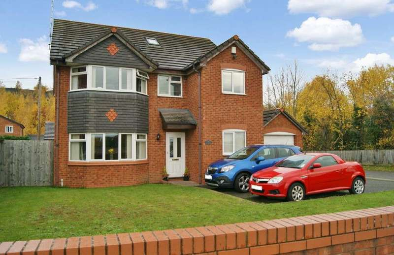 4 Bedrooms Detached House for sale in Llay Road, Wrexham