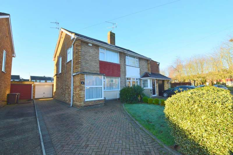3 Bedrooms Semi Detached House for sale in Sunningdale, Round Green, Luton, LU2 7TF