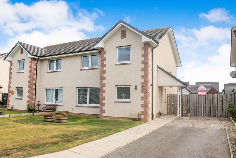 3 Bedrooms Semi Detached House for sale in Culbin Crescent, Nairn, IV12 5RT