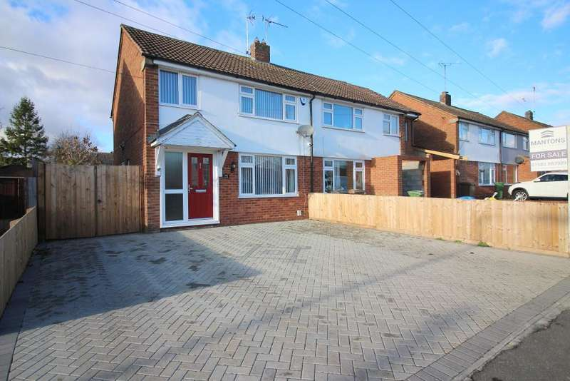3 Bedrooms Semi Detached House for sale in Icknield Way, Luton, Bedfordshire, LU3 2JU