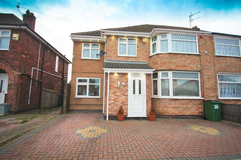 4 Bedrooms Semi Detached House for sale in Westfield Avenue, Wigston, LE18